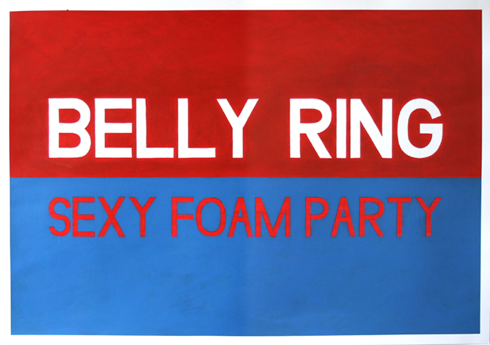Sexy Party, Acrylic on Paper, 100cm x 70cm by Robin Clare
