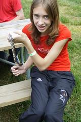 Maddie With Milk Snake
