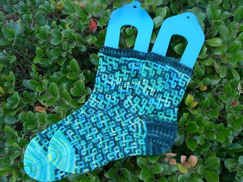 mosaic socks silhouette