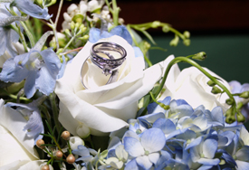 flowers & rings (closeup)