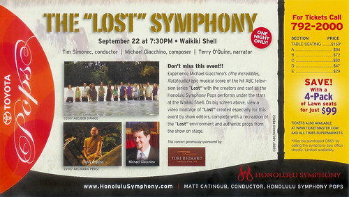 Lost symphony advertisement