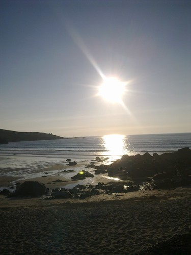 Sunset on Porthmeor Beach, St Ives