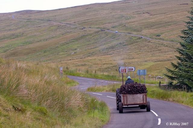 Transporting peat