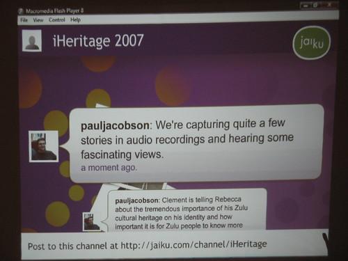 iHeritage event on 23 September 2007 - 12