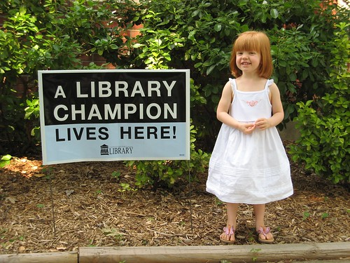 Levynn loves Louisville Free Public Library!