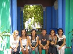 Núria, Cris, Maite, Paco, Raquel i Glòria - Jardins Majorelle