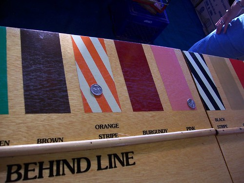 Bets placed on the colors Pink and Orange Stripe