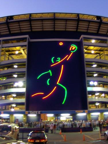 Shea Stadium At Dusk