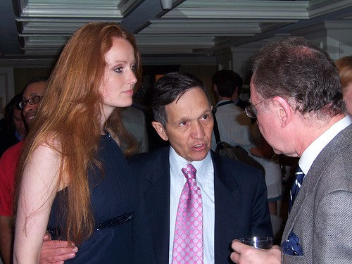Democratic Presidential Candidate Dennis Kucinich and wife Elizabeth Kucinich at the AAEC Banquet
