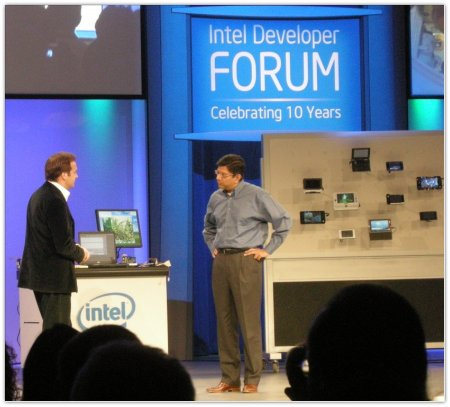 Mark Shuttlewrth, Anand Chandrasekher at IDF 2007