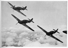 Hawker Hurricanes in formation