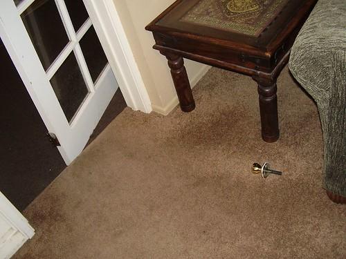 The doorknob I pushed through.