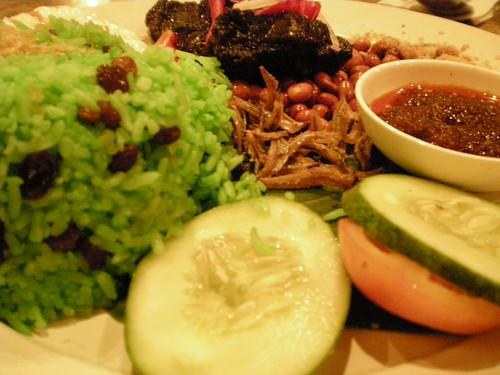 Cafecafe's beef pandan nasi lemak