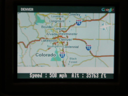 Google Maps on jetBlue