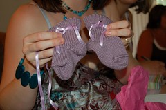 Baby Shower: Hand-Knit Booties