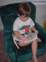 David Reads in His Chair