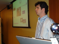 Sebastián Parigi en un momento de su charla