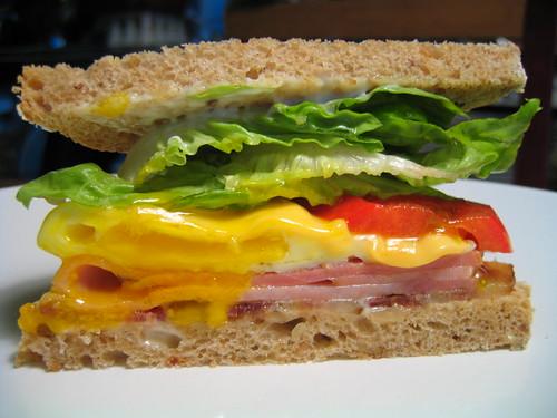 dad's saturday morning sandwich
