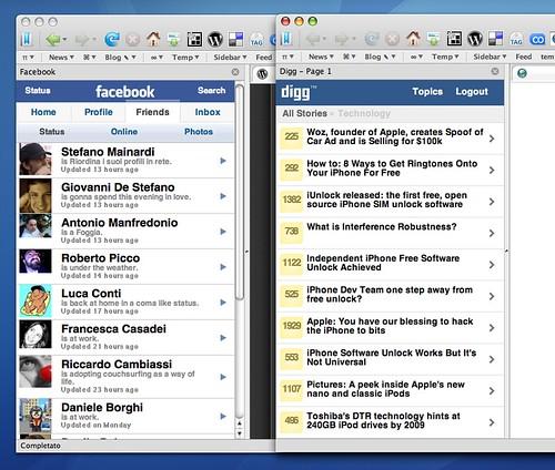 Applicazioni per iPhone nella sidebar di Firefox