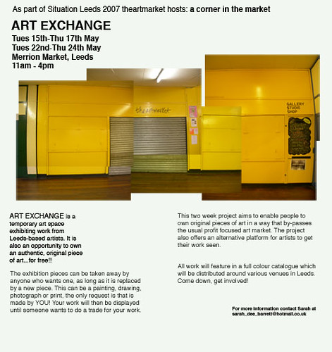 Art Exchange flyer