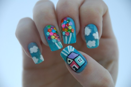 "(EXPLORED) Filme ""Up, altas aventuras"" por Rubia Olivo ~ Nail Art."
