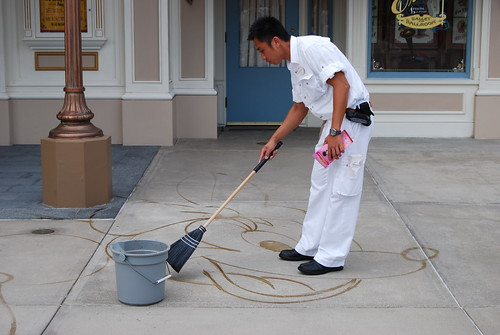 Broom Artist at Hong Kong Disneyland.