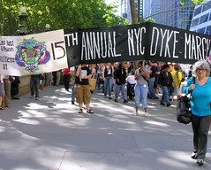 The March begins at Bryant Park