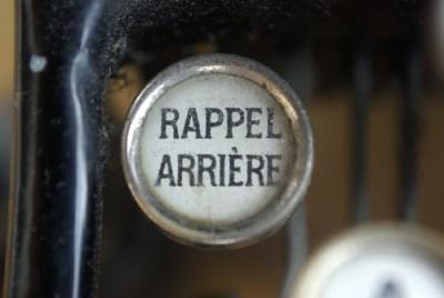 Rappel arrière - Touche de machine à écrire - Photo : FredArt