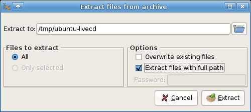 Extracting the .iso