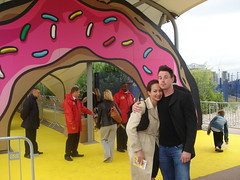 Olivia and Nathan, Simpsons Movie Premiere