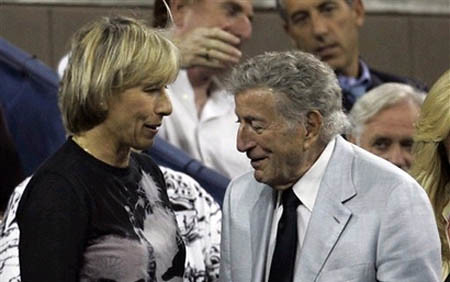 navratilova and tony bennett