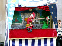 Mr Punch And The Crocodile, Covent Garden, London