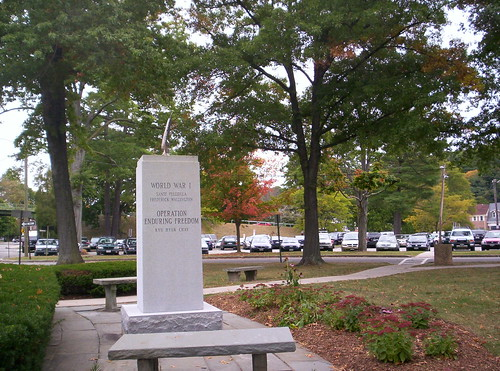 Fall View of the Chappaqua War Memorial