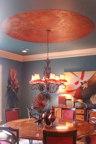 Whimsical Dining Room Ceiling
