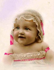 Vintage Postcard ~ Chubby Baby