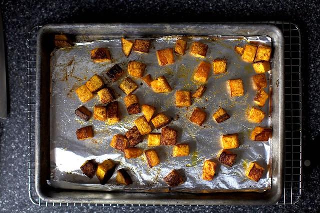 spiced butternut squash, half