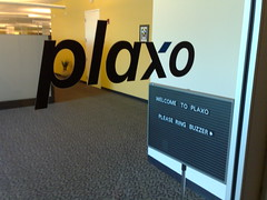 Plaxo sign in their lobby.