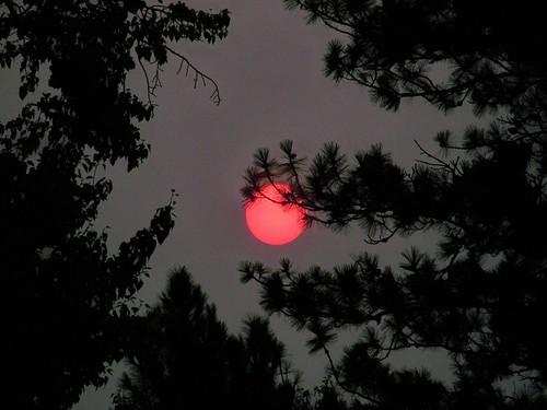 Smoky morning sun