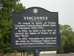 Vincennes Historic Marker