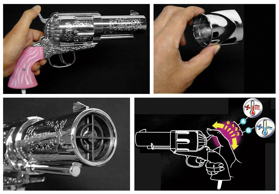Hair Dryer Gun features