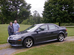 Scott and Dominica with the Mazda 6