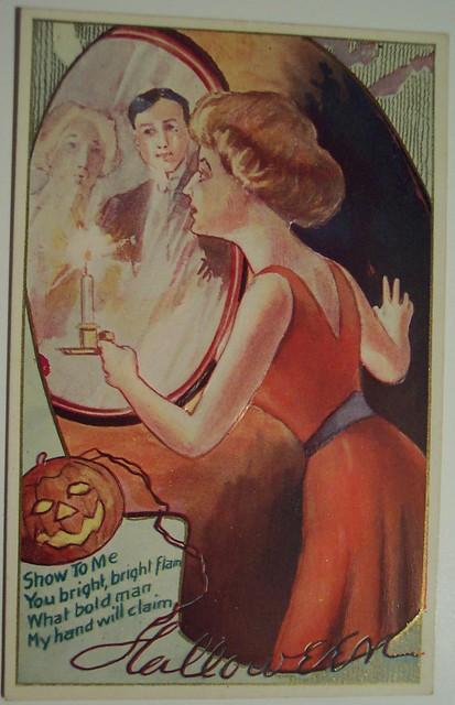 Vintage Halloween Postcard     H.I.R