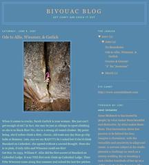 Bivouac Blog - Anne Skidmore
