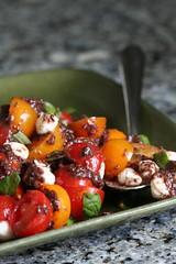 Baby Tomato Caprese with Kalamata Vinaigrette