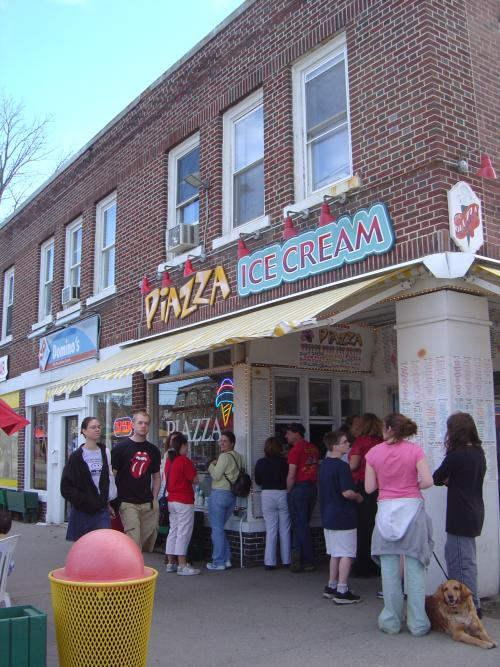 Lined up for ice cream