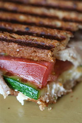 Chicken, Zucchini, Tomato, and Goat Cheese Panini 2