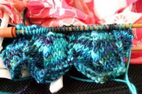 on-flight knitting