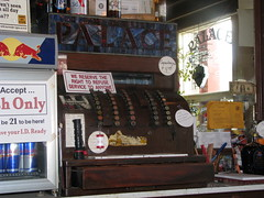 127 - Old cash register at Palace Bar - 20100526
