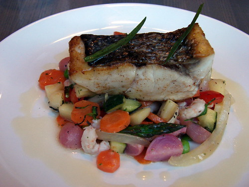 roasted wild striped bass