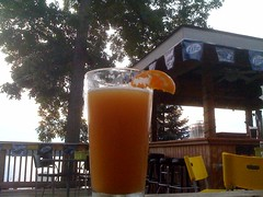 At Jerry's in Brooklyn Michigan enjoying a Bell's Oberon watching the sun set